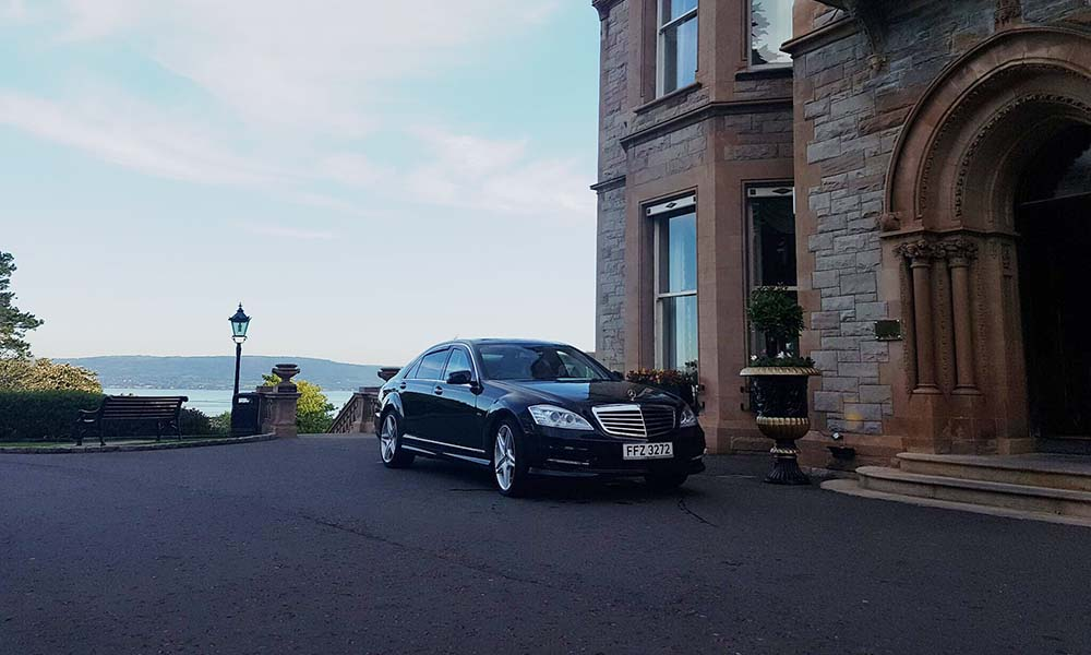 Mercedes parked at Belfast Castle